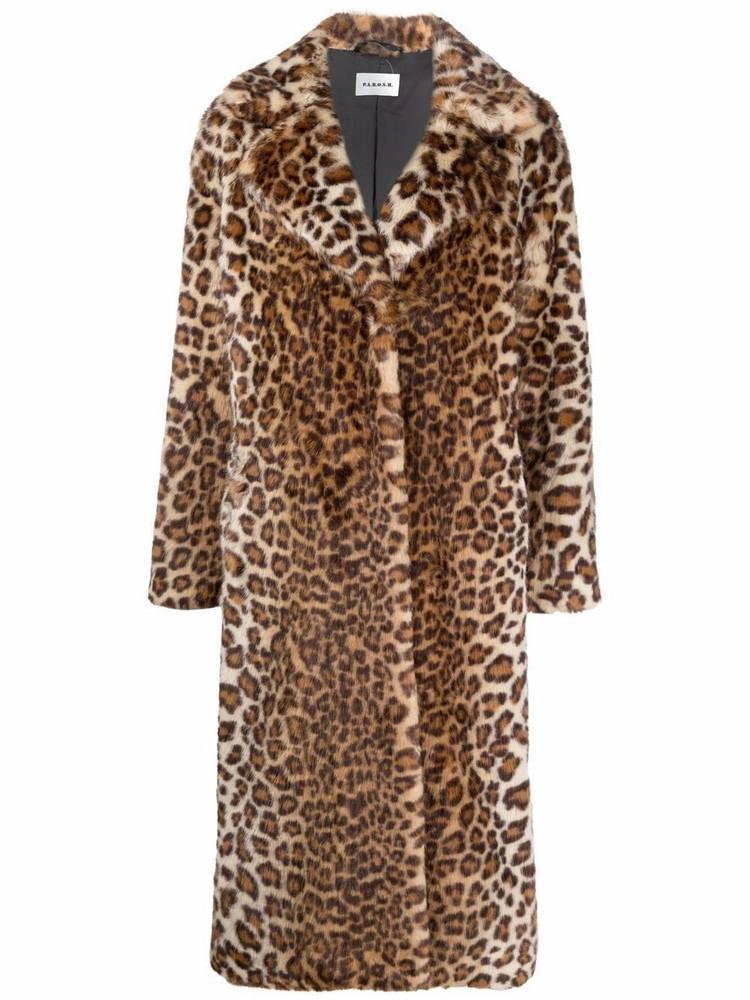 P.A.R.O.S.H. P.A.R.O.S.H. leopard-print belted coat - Neutrals