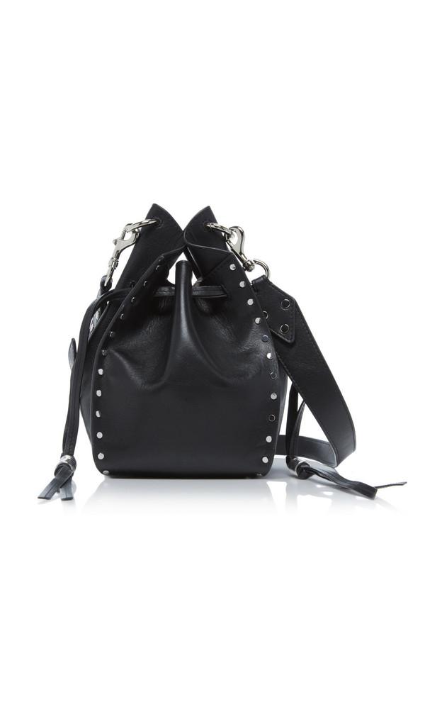 Isabel Marant Taj Studded Leather Bucket Bag in black
