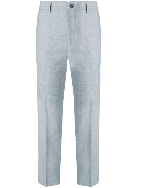 Berwich Chicca cropped trousers in grey