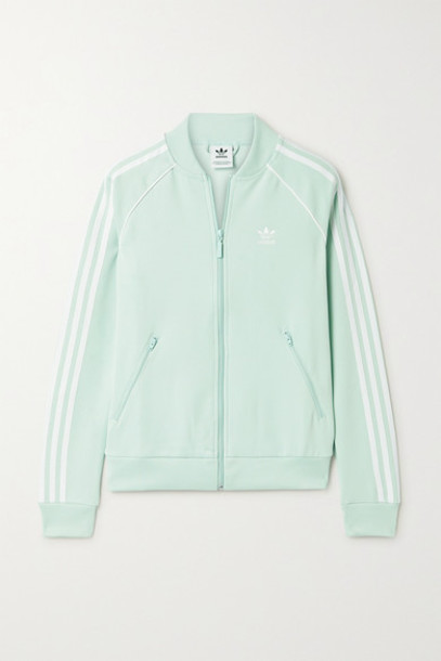 adidas Originals - Superstar Striped Tech-jersey Track Jacket - Mint