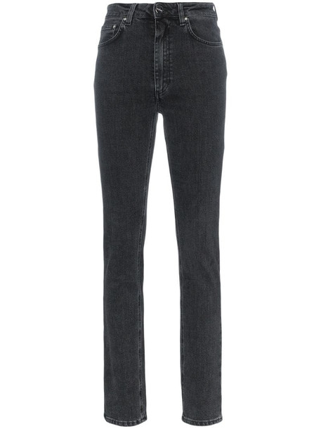Totême high waisted slim fit jeans in grey