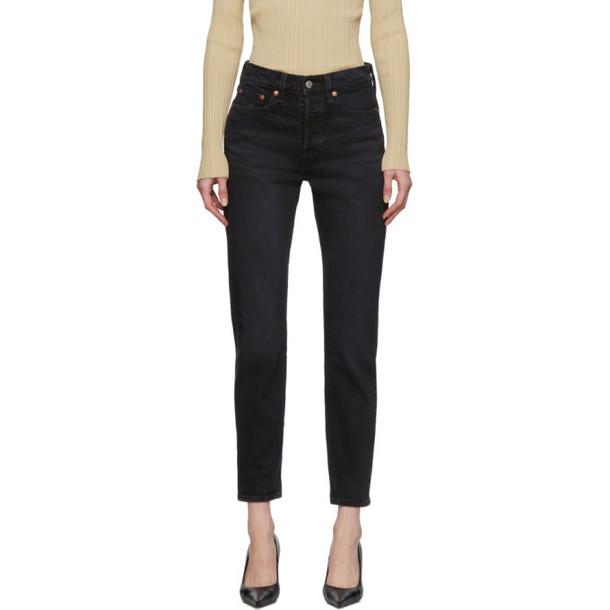 Levis Black Wedgie Icon Fit Jeans