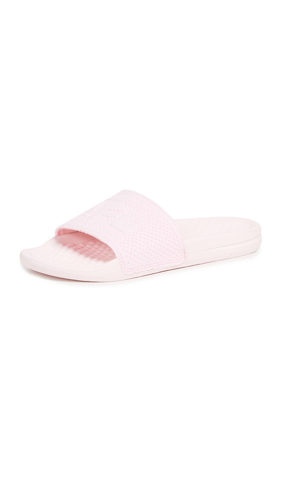 APL: Athletic Propulsion Labs Big Logo TechLoom Slides in pink
