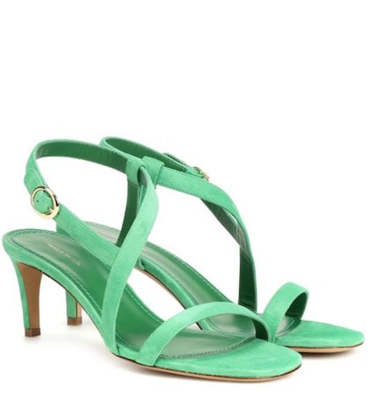 Mansur Gavriel Suede sandals in green