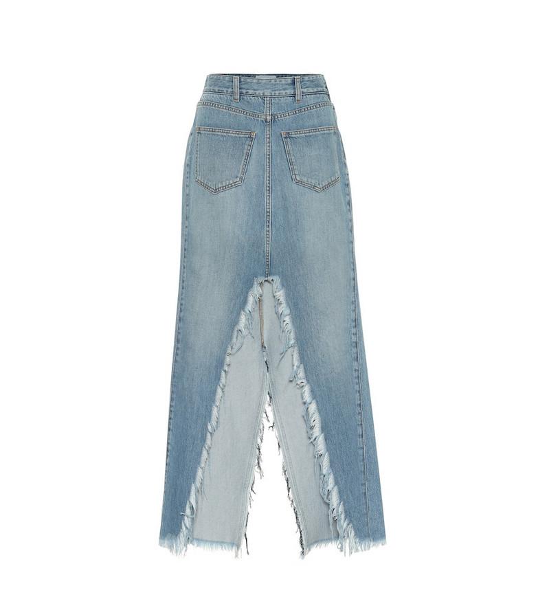 Givenchy Denim midi skirt in blue