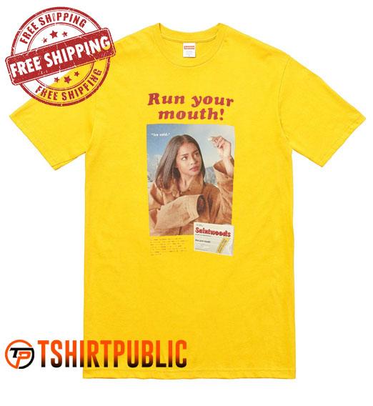Run Your Mouth Zion Kuwonu T Shirt Adult Free Shipping - Cheap Graphic Tees