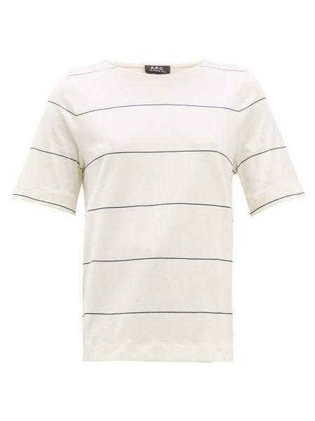 A.P.C. A.p.c. - Sara Striped Cotton T Shirt - Womens - Navy White