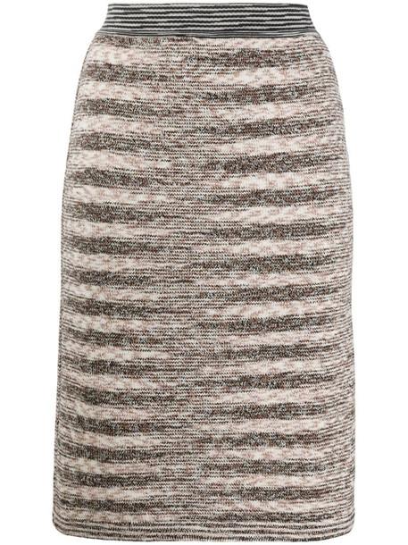 Missoni geometric knit pencil skirt in brown