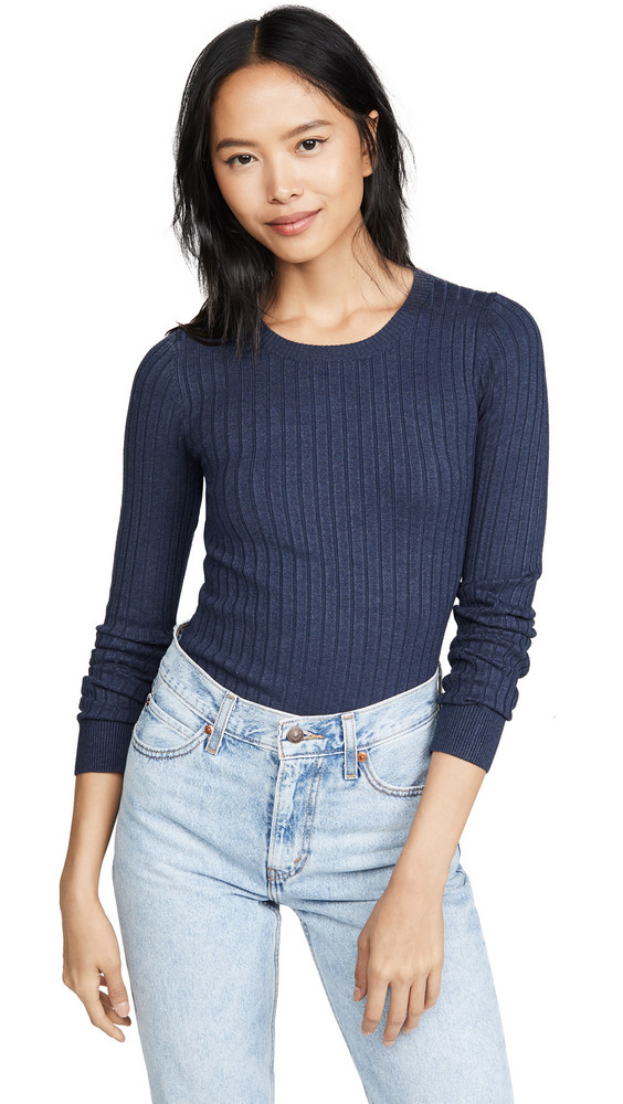 525 America Ribbed Pullover in denim / denim