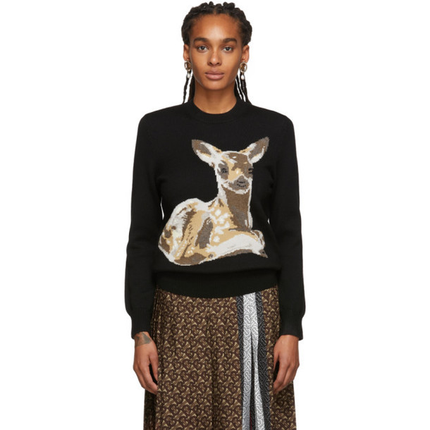 Burberry Black Courtney Sweater