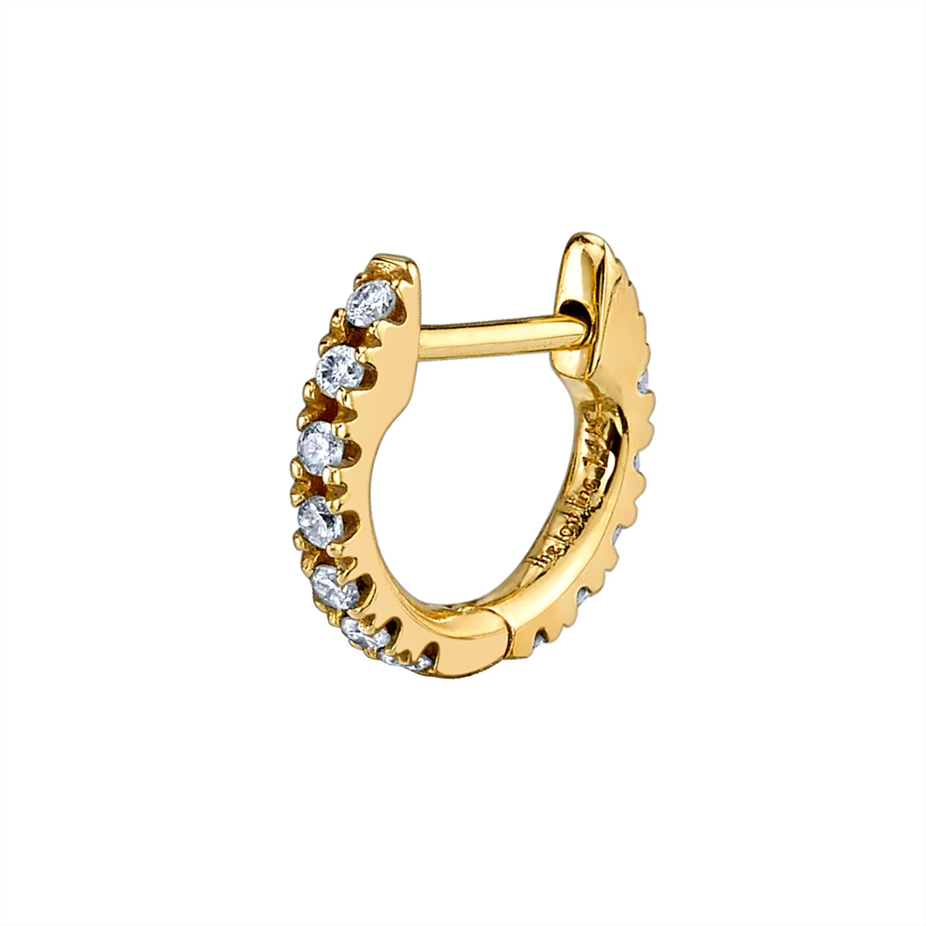SMALL DIAMOND HUGGIE EARRING