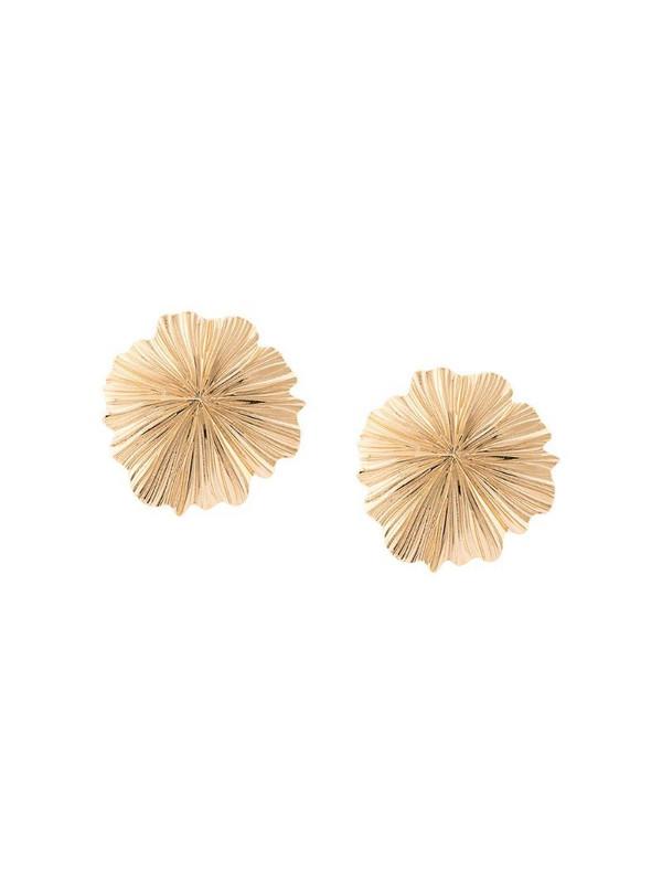 Aurelie Bidermann 14kt gold floral shape clip-on earrings