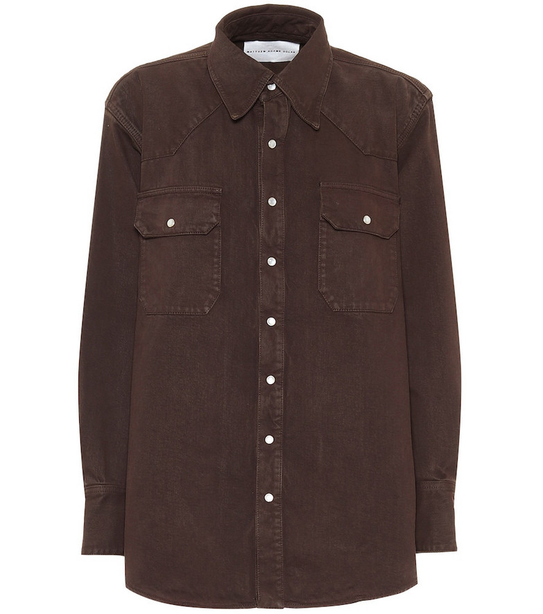 Matthew Adams Dolan Denim shirt in brown