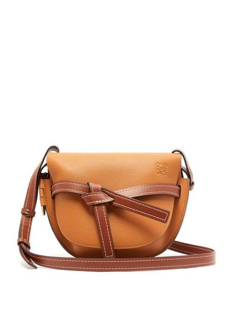 Loewe - Gate Small Leather Cross Body Bag - Womens - Tan Multi
