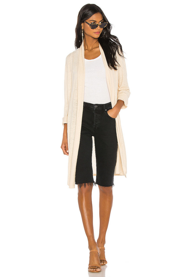 Theory Shawl Cardigan in beige