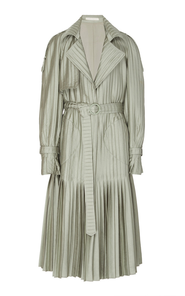 Jonathan Simkhai Camdyn Pleated Coat Size: S in green