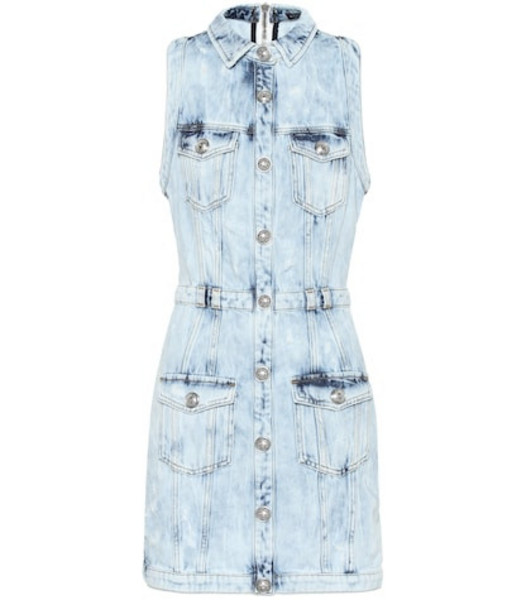 Balmain Denim minidress in blue