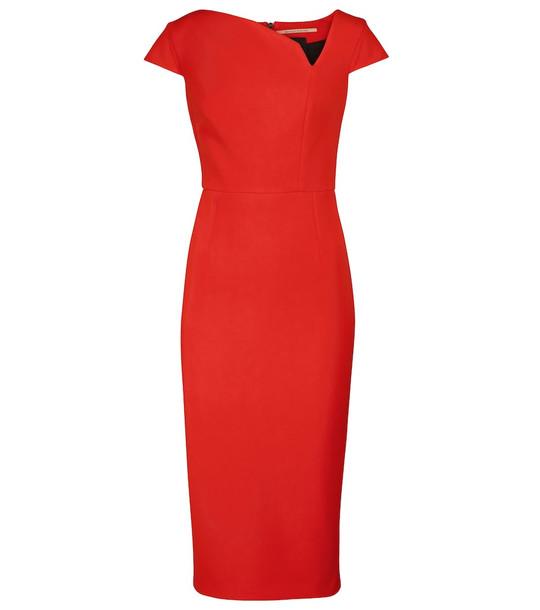 Roland Mouret Kepley crêpe midi dress in red
