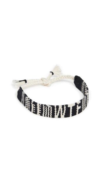 Maison Irem Mantra Woven Bracelet in black