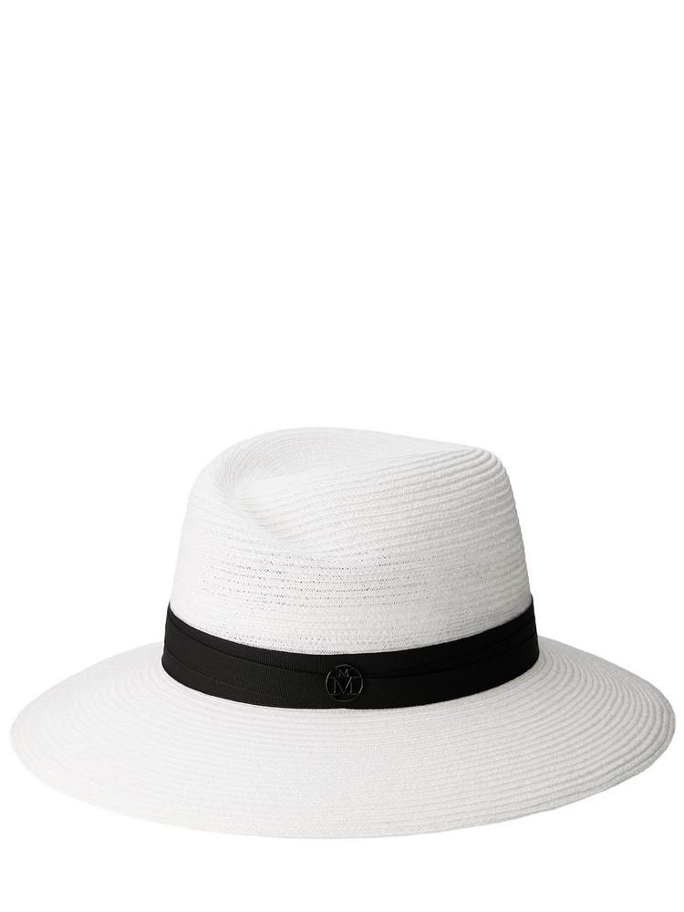 MAISON MICHEL Virginie Hemp Hat in black / white