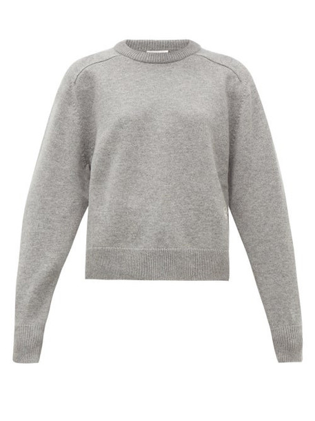 Chloé Chloé - Festive Monogram Embroidered Cashmere Sweater - Womens - Grey