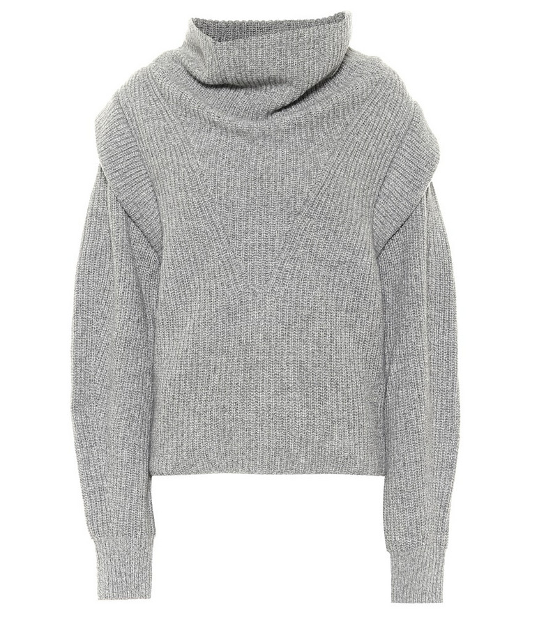 Isabel Marant Poppy cashmere and wool sweater in grey