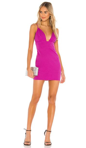 Lovers + Friends Lovers + Friends Preston Mini Dress in Purple