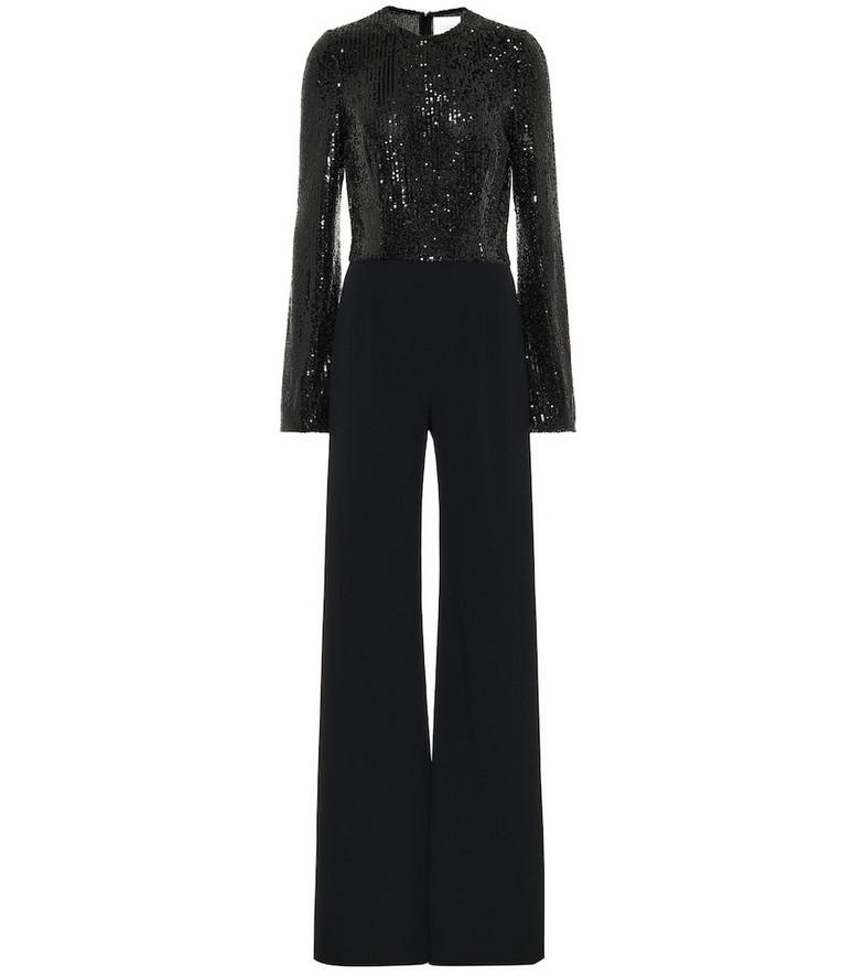 Galvan Modern Love sequined jumpsuit in black