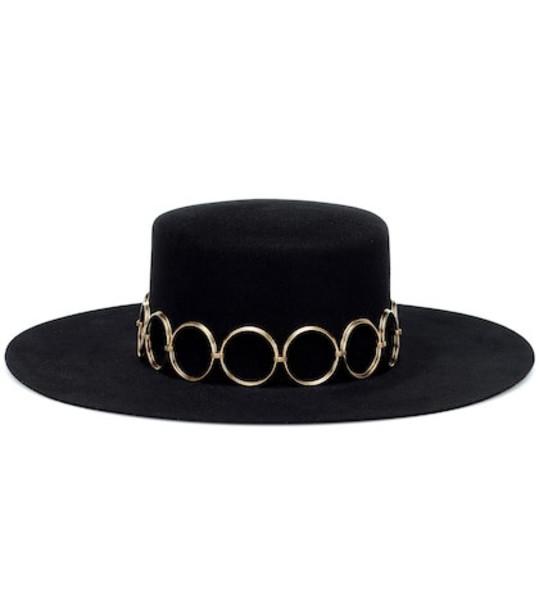 Saint Laurent Felt hat in black