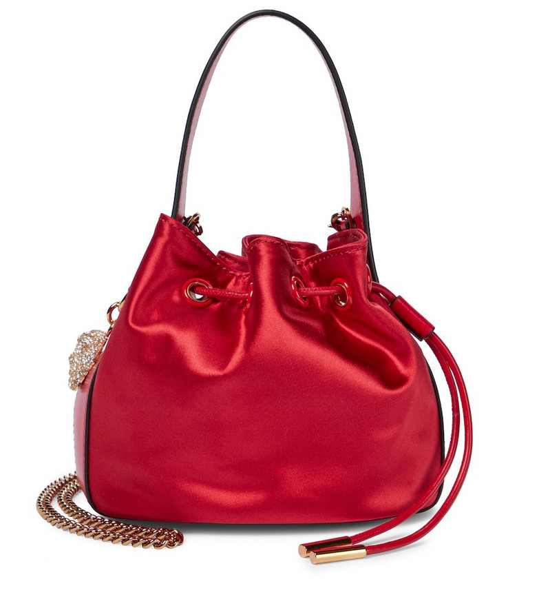 Versace Medusa Small silk and nylon tote in red