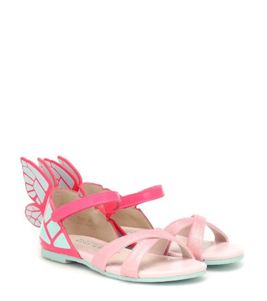 Sophia Webster Mini Chiara leather sandals in pink