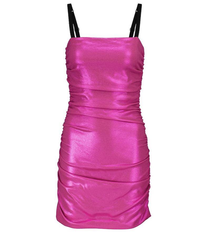 Dolce & Gabbana Bustier mini dress in purple