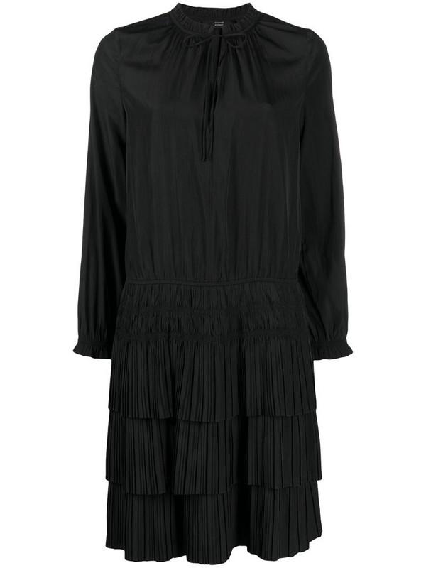 Steffen Schraut tiered plisse dress in black
