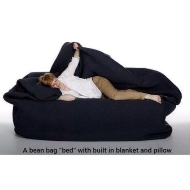 sweater jewels bean bag bedding blanket pillow black bag pajamas home decor sofa bean bag home accessory cozy