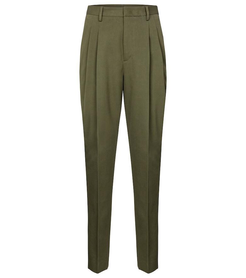 REDValentino gabardine tapered pants in green