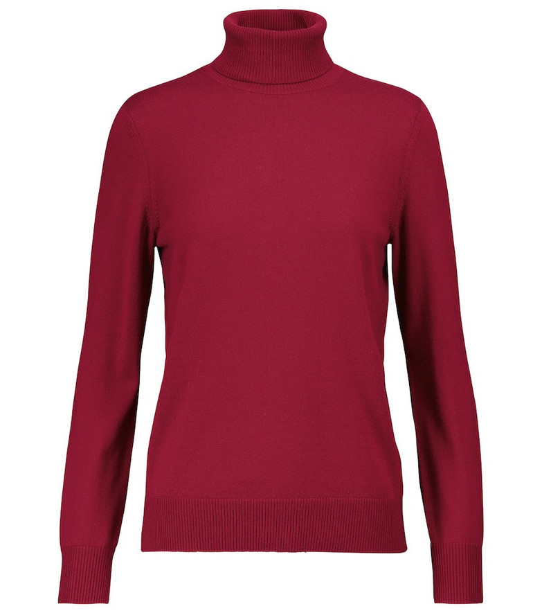 A.P.C. Sandra wool jersey sweater in red
