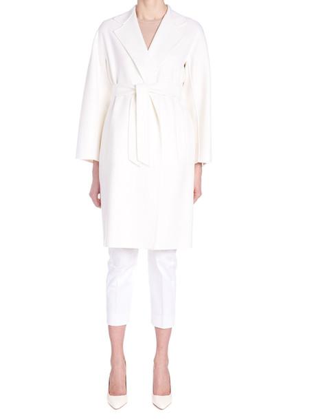 Max Mara 'rapallo' Coat in white