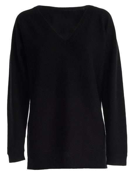 Theory Sweater L/s V Neck in black