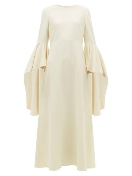 Giambattista Valli - Fluted Sleeve Crepe Maxi Dress - Womens - White