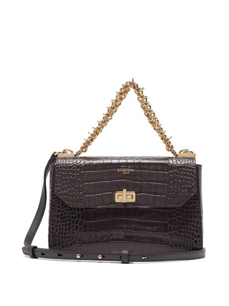 Givenchy - Catena Small Croc-effect Leather Cross-body Bag - Womens - Grey