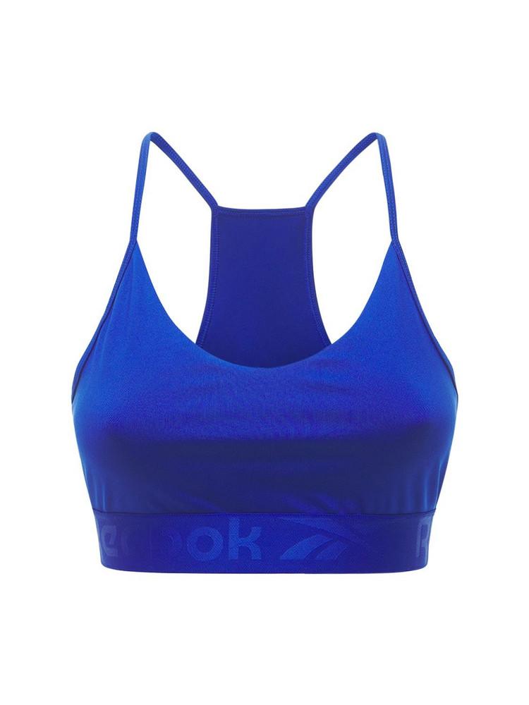 REEBOK CLASSICS Wor Comm Strappy Bac Bra Top in blue