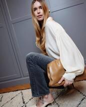 top,blouse,beige,pernille teisbaek,blogger,blogger style,instagram