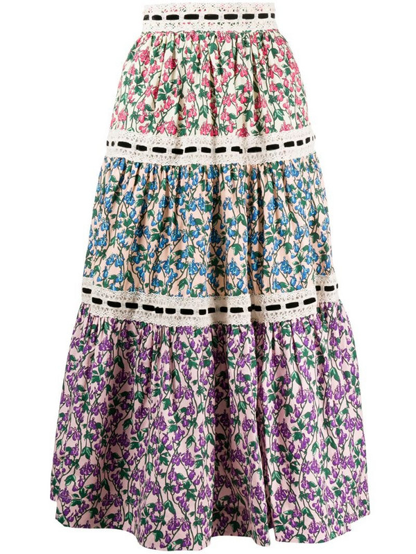 Marc Jacobs floral print A-line skirt in pink