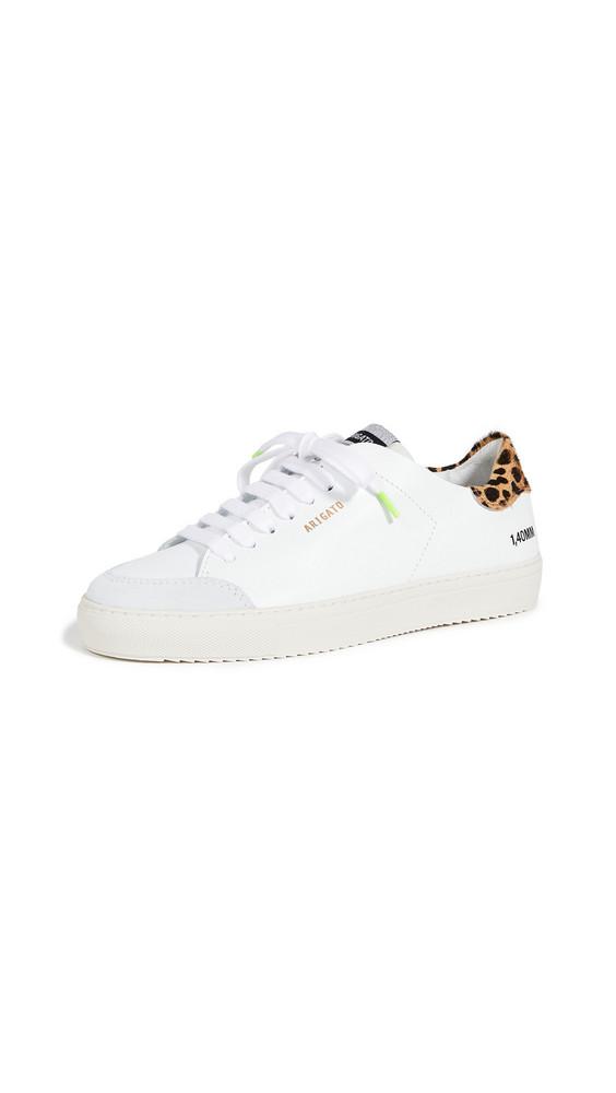 Axel Arigato Clean 90 Triple Animal Sneakers in white / leopard