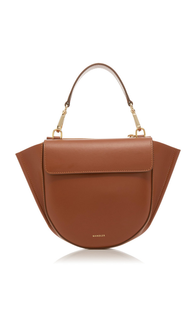 Wandler Hortensia Mini Leather Shoulder Bag in brown