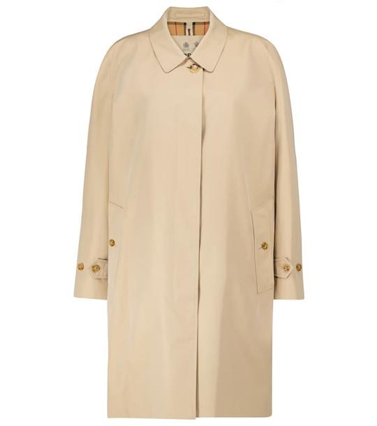 Burberry Pimlico Heritage gabardine car coat in beige