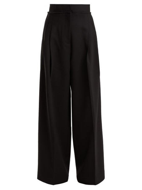 Jw Anderson - High Rise Wide Leg Trousers - Womens - Black