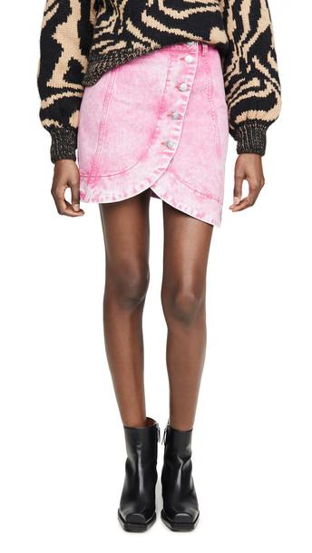 GANNI Washed Denim Skirt