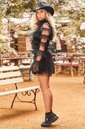 dress,ruffle,ruffle dress,black dress,little black dress,mini dress,long sleeve dress,perrie edwards,instagram,little mix