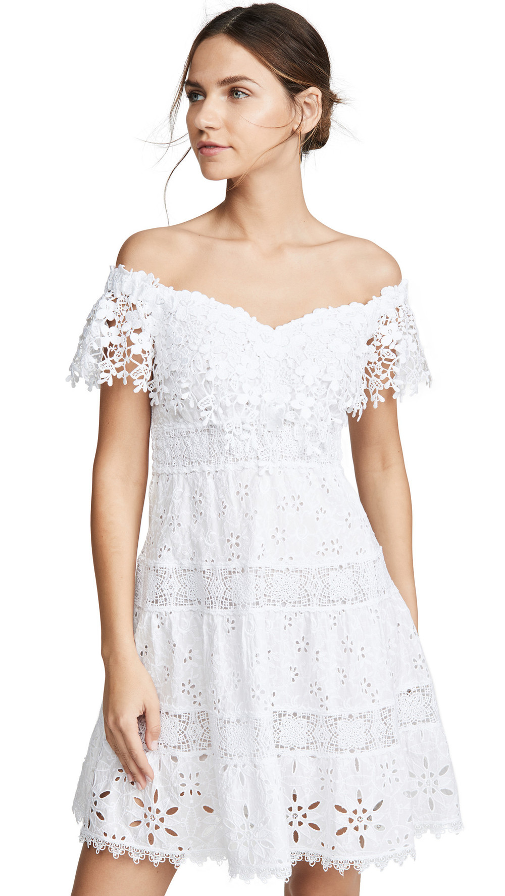 Temptation Positano Sondrio Corto Dress in white